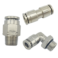 All Brass Air Fittings | Camozzi Type Push In Air Fittings | Nickel Plated Brass Push In Fittings