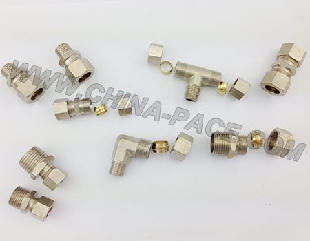 Compression Fittings, pneumatic fittings, air fittings, brass fittings