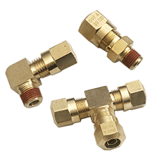 DOT Air Brake Compression Fittings | D.O.T. Air Brake Fittings For SAE J844 Nylon Tubing