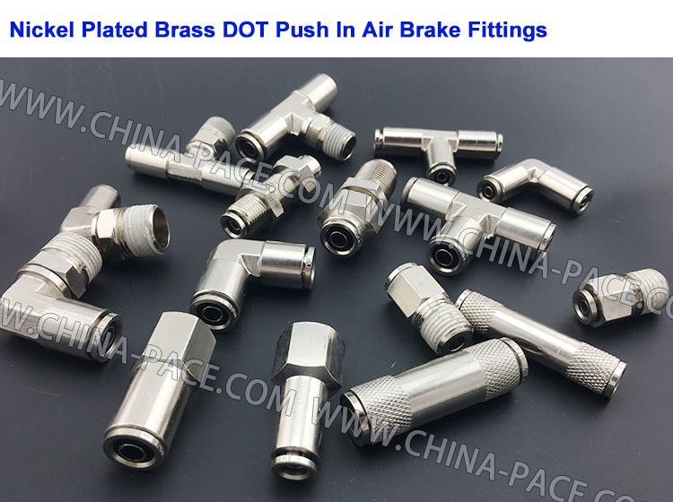PACE can also supply Nickel Plated Brass DOT Push To Connect Fittings, white thread sealant
