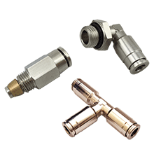 Lubrication System Fittings, High Pressure Brass Air Fittings, Double Sealing Push In Air Fittings, Brass Push To Connect Fittings, One Touch Tube Fittings