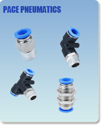 Pneumatic Fittings with NPT and BSPT thread, Air Fittings, one touch tube fittings, Pneumatic Fitting, Nickel Plated Brass Push in Fittings