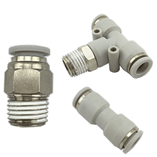 Pneumatic Fittings, Air Fittings, Push To Connect Fittings, Push In Fittings, one touch tube fittings