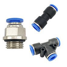 Pneumatic Fittings, Air Fittings, Composite Push To Connect Fittings, Push In Fittings, one touch tube fittings