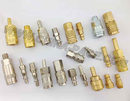 Air Pipe Brass Pneumatic Connector Durable Quick Coupling Joint Fitting Hose