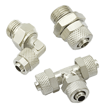 Rapid Screw Fittings For Plastic Tube, Two Touch Fittings | Brass Rapid Air Fittings | Pneumatic Push On Fittings