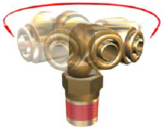 DOT swivel push in air brake fittings