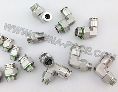 stainless steel push in fittings, pneumatic fittings, air fittings