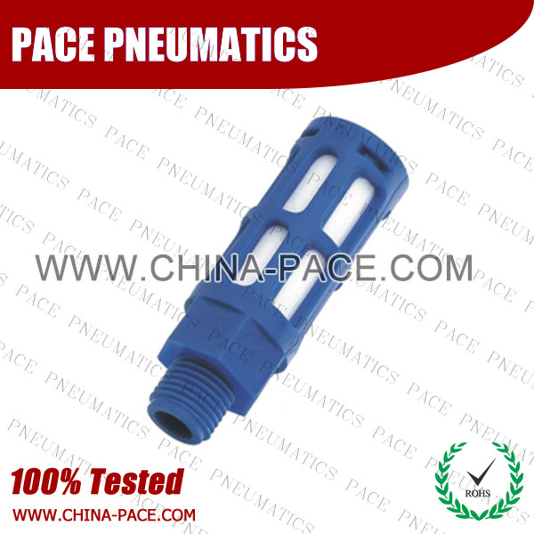 PSU,silencer, muffler,Pneumatic Fittings, Air Fittings, one touch tube fittings, Nickel Plated Brass Push in Fittings