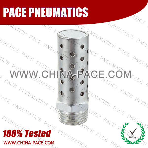 BESLC,silencer, muffler,Pneumatic Fittings, Air Fittings, one touch tube fittings, Nickel Plated Brass Push in Fittings