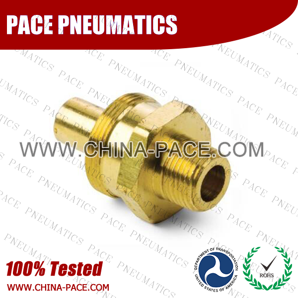 Male Straight Body, Air Brake DOT Compression Fittings For Rubber Hose, DOT Air brake Hose ends,  D.O.T. AIR BRAKE REUSABLE FITTINGS, DOT Brass Fittings, Air Brake Fittings for Rubber Tubing, Pneumatic Fittings, Brass Air Fittings
