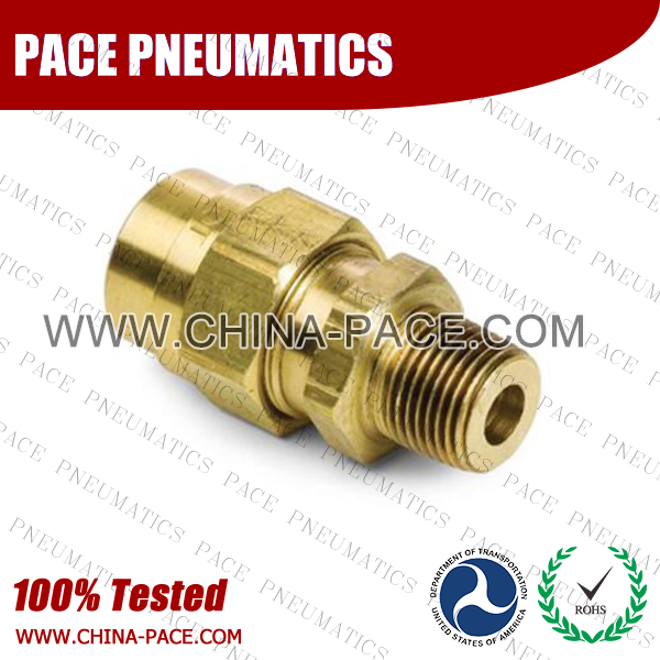 Male Straight, Air Brake DOT Compression Fittings For Rubber Hose, DOT Air brake Hose ends,  D.O.T. AIR BRAKE REUSABLE FITTINGS, DOT Brass Fittings, Air Brake Fittings for Rubber Tubing, Pneumatic Fittings, Brass Air Fittings