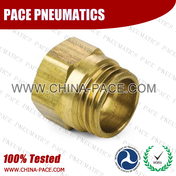 Spring Guard Nut, Air Brake DOT Compression Fittings For Rubber Hose, DOT Air brake Hose ends,  D.O.T. AIR BRAKE REUSABLE FITTINGS, DOT Brass Fittings, Air Brake Fittings for Rubber Tubing, Pneumatic Fittings, Brass Air Fittings