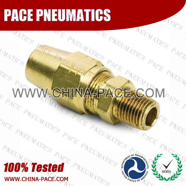 AB Series DOT air brake fittings For Copper Tubing, Male Straight, Parker Air brake compression fittings, DOT Brass Fittings, DOT Air Brake Fittings, DOT Approved Brass Air Fittings
