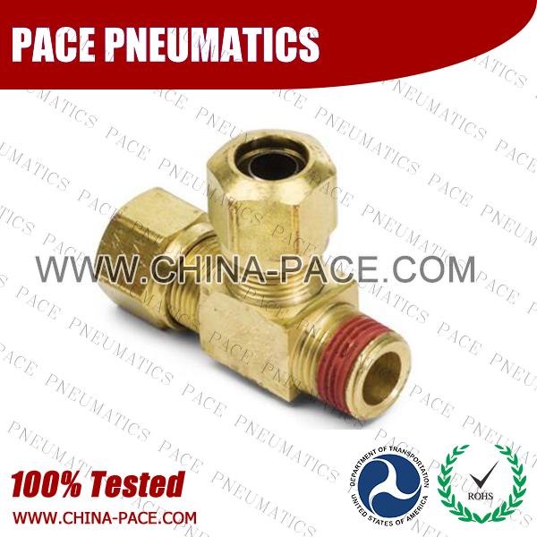 Male Run Tee NTA DOT air brake compression Union bulkhead fittings, DOT Air brake fittings, Pneumatic Fittings