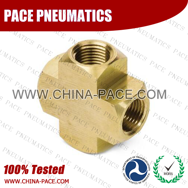 Cross Brass Pipe Fittings, Brass Threaded Fittings, Brass Hose Fittings,  Pneumatic Fittings, Brass Air Fittings, Hex Nipple, Hex Bushing, Coupling, Forged Fittings
