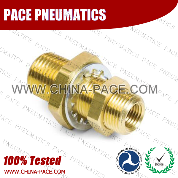Female Bulkhead Brass Pipe Fittings, Brass Threaded Fittings, Brass Hose Fittings,  Pneumatic Fittings, Brass Air Fittings, Hex Nipple, Hex Bushing, Coupling, Forged Fittings