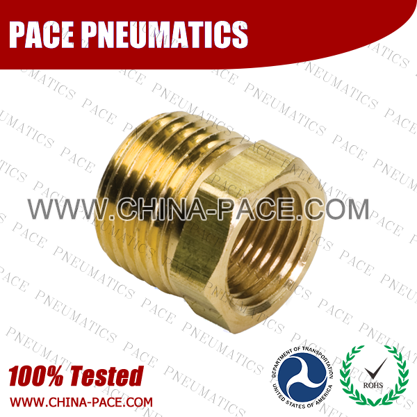 Hex Bushing Brass Pipe Fittings, Brass Threaded Fittings, Brass Hose Fittings,  Pneumatic Fittings, Brass Air Fittings, Hex Nipple, Hex Bushing, Coupling, Forged Fittings