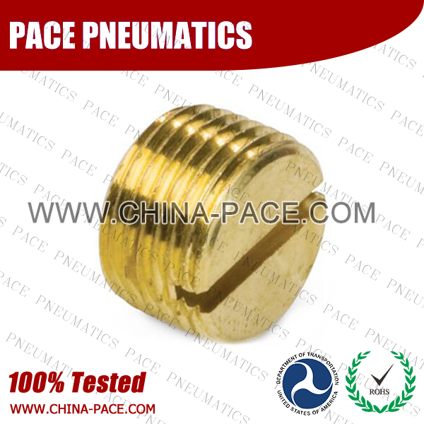 Slotted Plug Brass Pipe Fittings, Brass Threaded Fittings, Brass Hose Fittings,  Pneumatic Fittings, Brass Air Fittings, Hex Nipple, Hex Bushing, Coupling, Forged Fittings