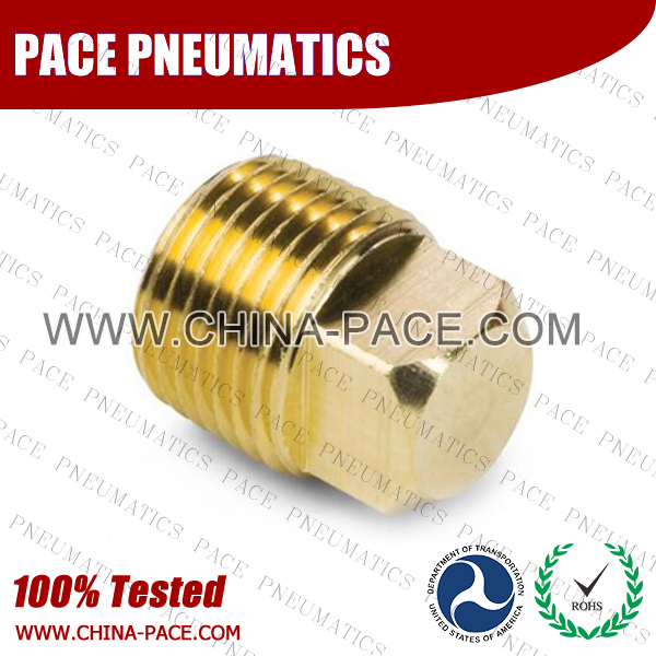 Square Head Plug Brass Pipe Fittings, Brass Threaded Fittings, Brass Hose Fittings,  Pneumatic Fittings, Brass Air Fittings, Hex Nipple, Hex Bushing, Coupling, Forged Fittings