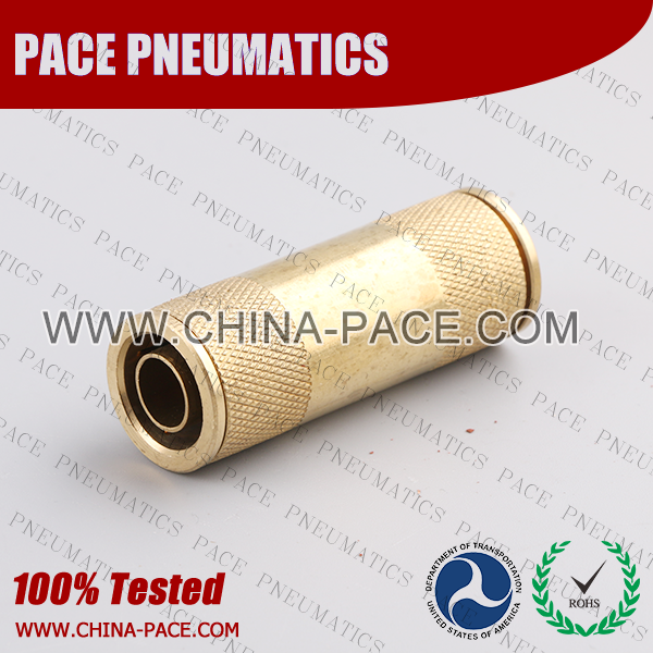 Union Straight DOT Push To Connect Air Brake Fittings, DOT Push In Air Brake Tube Fittings, DOT Approved Brass Push To Connect Fittings, DOT Fittings, DOT Air Line Fittings, Air Brake Parts