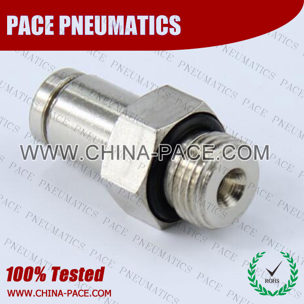 Dual Seal Brass Push In Air fittings, Lubrication Systems Fittings