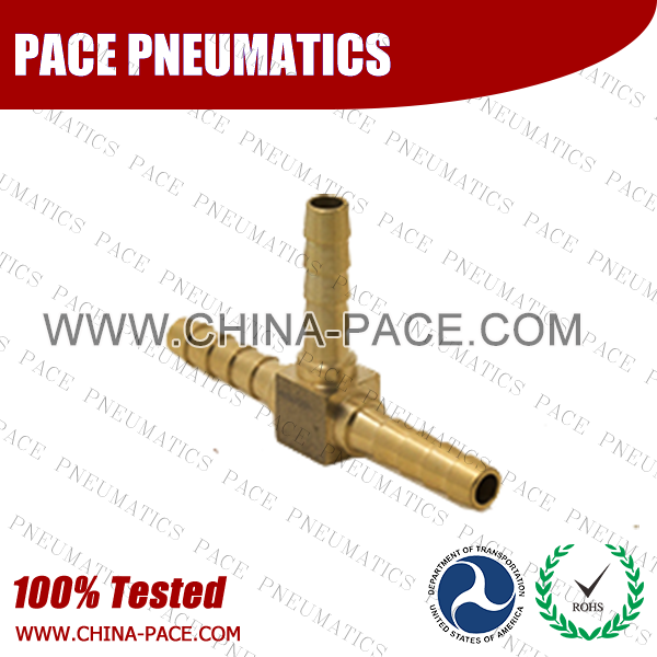 Barstock Union Tee Hose Barb Fittings, Brass Hose Fittings, Brass Hose Splicer, Brass Hose Barb Pipe Threaded Fittings, Pneumatic Fittings, Brass Air Fittings