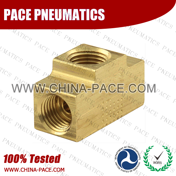 Female Branch Tee SAE Inverted Flare Fittings, Brass Inverted Flare Fittings & Adapters, Brass Pipe Fittings, Brass Air Fittings