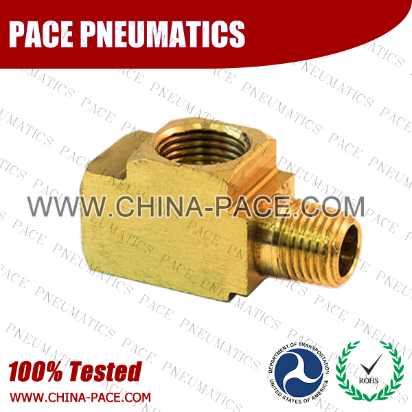 Male Run Tee SAE Inverted Flare Fittings, Brass Inverted Flare Fittings & Adapters, Brass Pipe Fittings, Brass Air Fittings