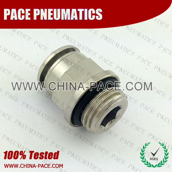 PMPC-G, All metal Pneumatic Fittings with BSPP thread, Air Fittings, one touch tube fittings, Pneumatic Fitting, Nickel Plated Brass Push in Fittings