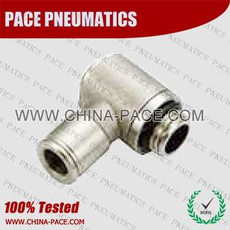 PMPH-G,All metal Pneumatic Fittings with bspp thread, Air Fittings, one touch tube fittings, Nickel Plated Brass Push in Fittings