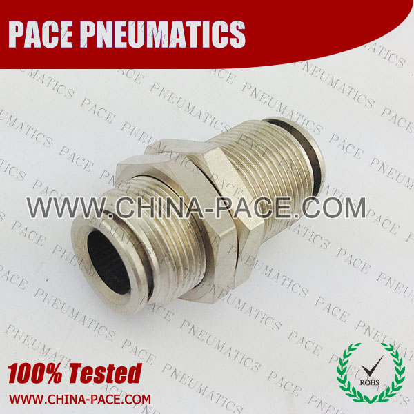 PMPM,Pneumatic Fittings, Air Fittings, one touch tube fittings, Nickel Plated Brass Push in Fittings