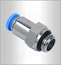 PCF,Pneumatic Fittings with npt and bspt thread, Air Fittings, one touch tube fittings, Pneumatic Fitting, Nickel Plated Brass Push in Fittings