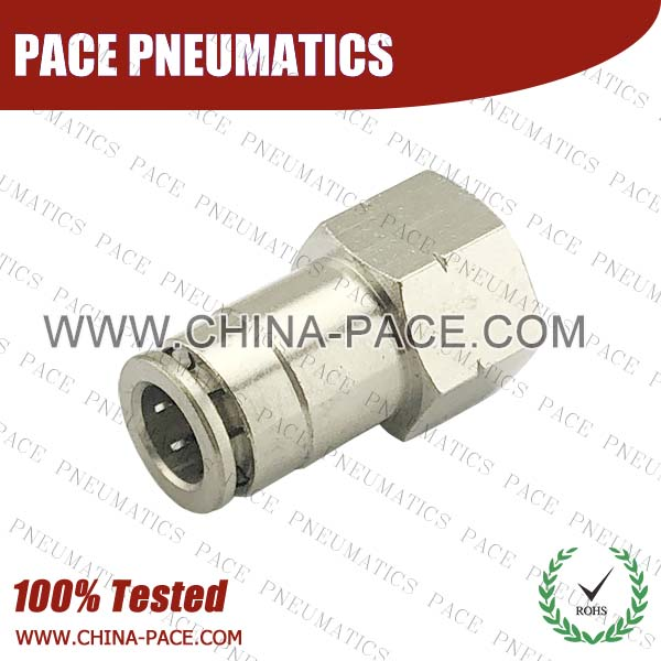 cmpmf,Pneumatic Fittings with npt and bspt thread, Air Fittings, one touch tube fittings, Pneumatic Fitting, Nickel Plated Brass Push in Fittings