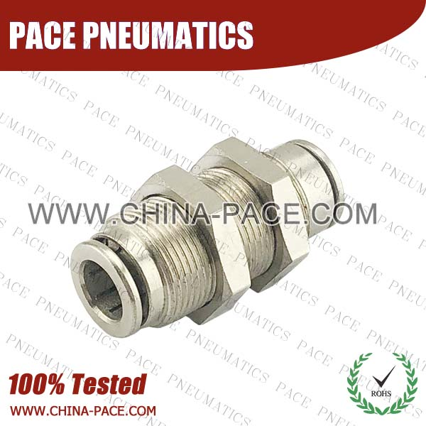 cmpm,Pneumatic Fittings with npt and bspt thread, Air Fittings, one touch tube fittings, Pneumatic Fitting, Nickel Plated Brass Push in Fittings