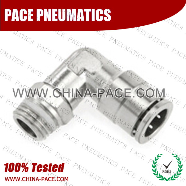 cmpgj,Pneumatic Fittings with npt and bspt thread, Air Fittings, one touch tube fittings, Pneumatic Fitting, Nickel Plated Brass Push in Fittings