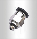 PC-C, Pneumatic Fittings, Air Fittings, one touch tube fittings, Pneumatic Fitting, Nickel Plated Brass Push in Fittings