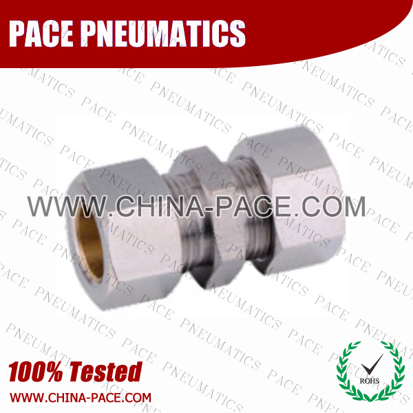Prmf,Brass air connector, brass fitting,Pneumatic Fittings, Air Fittings, one touch tube fittings, Nickel Plated Brass Push in Fittings