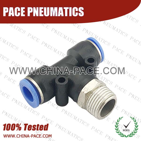 PB,Pneumatic Fittings with npt and bspt thread, Air Fittings, one touch tube fittings, Pneumatic Fitting, Nickel Plated Brass Push in Fittings