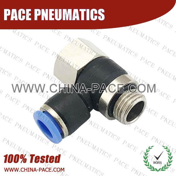 PHF-G,Pneumatic Fittings with BSPP thread, Air Fittings, one touch tube fittings, Pneumatic Fitting, Nickel Plated Brass Push in Fittings