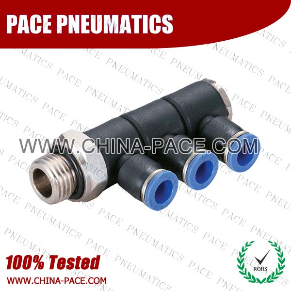 PKD-G,Pneumatic Fittings with BSPP thread, Air Fittings, one touch tube fittings, Pneumatic Fitting, Nickel Plated Brass Push in Fittings