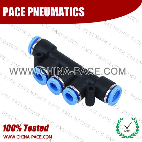 PKG,Pneumatic Fittings with npt and bspt thread, Air Fittings, one touch tube fittings, Pneumatic Fitting, Nickel Plated Brass Push in Fittings