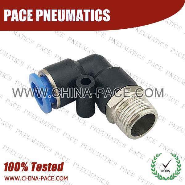 PL,Pneumatic Fittings with npt and bspt thread, Air Fittings, one touch tube fittings, Pneumatic Fitting, Nickel Plated Brass Push in Fittings