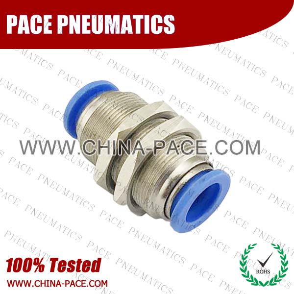 PM,Pneumatic Fittings with npt and bspt thread, Air Fittings, one touch tube fittings, Pneumatic Fitting, Nickel Plated Brass Push in Fittings
