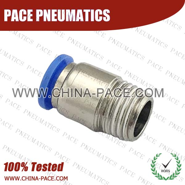 POC,Pneumatic Fittings with npt and bspt thread, Air Fittings, one touch tube fittings, Pneumatic Fitting, Nickel Plated Brass Push in Fittings