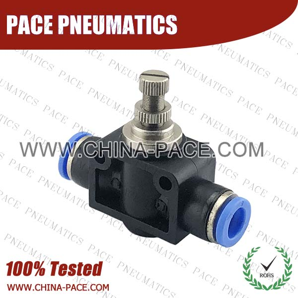 PSF,speed controoler,Pneumatic Fittings, Air Fittings, one touch tube fittings, Nickel Plated Brass Push in Fittings