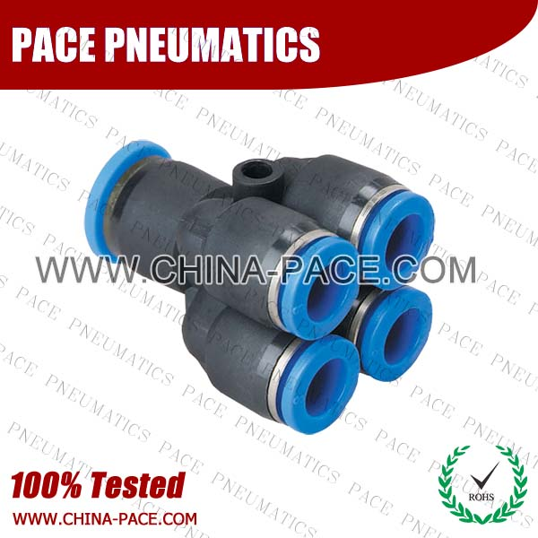 PU,Pneumatic Fittings with NPT AND BSPT thread, Air Fittings, one touch tube fittings, Pneumatic Fitting, Nickel Plated Brass Push in Fittings