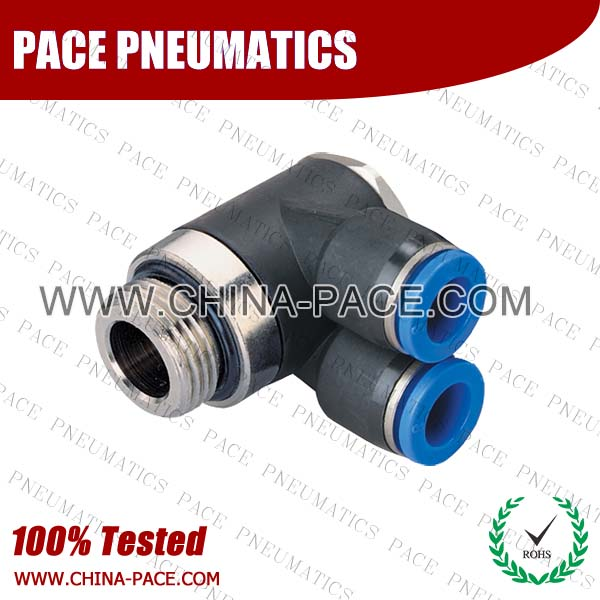 PKB-G,Pneumatic Fittings with BSPP thread, Air Fittings, one touch tube fittings, Pneumatic Fitting, Nickel Plated Brass Push in Fittings