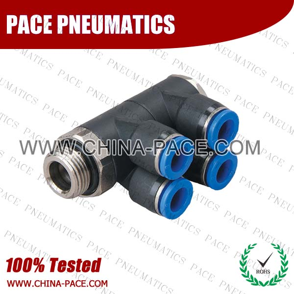 PX-G,Pneumatic Fittings with BSPP thread, Air Fittings, one touch tube fittings, Pneumatic Fitting, Nickel Plated Brass Push in Fittings