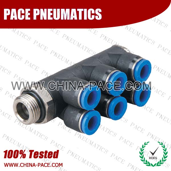 PH-G,Pneumatic Fittings with BSPP thread, Air Fittings, one touch tube fittings, Pneumatic Fitting, Nickel Plated Brass Push in Fittings